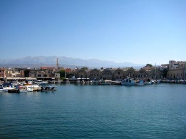 Harbor in Chania