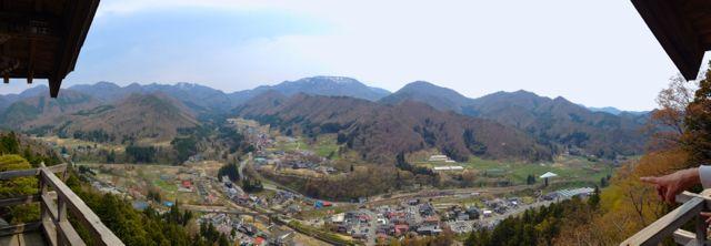 Panoramic view of Yamadera