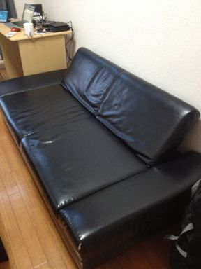 Couch and desk from used furniture store