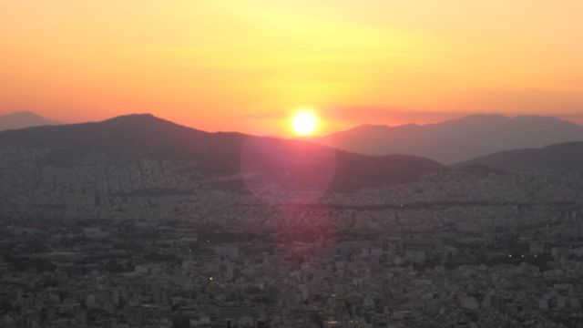 Sunset from Lycabettus