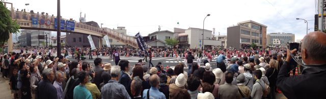 Panorama of the parade