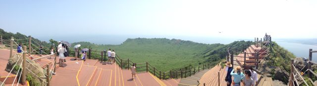 panorama including the viewing deck at the top