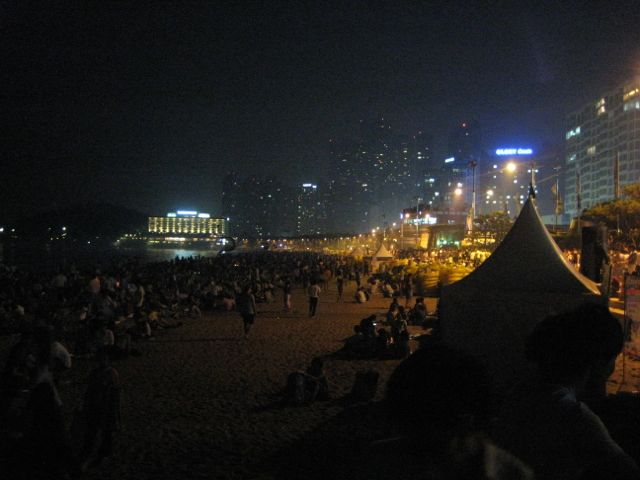 Haeundae at night