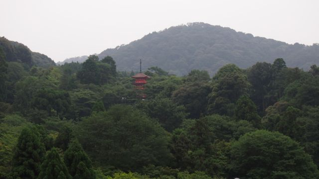 View of the hills surrounding Kiyoumizu-dera