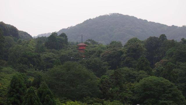 View of the hills surrounding Kiyoumizu-dera