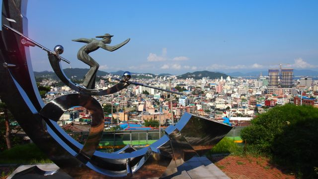 View of Mokpo from the sculpture park