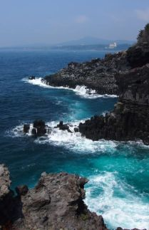 Jusangjeolli Cliffs on the Jungmung Daepo Coast jeju island south korea