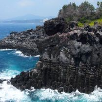 Jusangjeolli Cliffs on the Jungmung Daepo Coast jeju island south korea