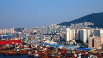Views of Busan port
