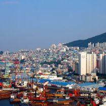 Views of Busan port