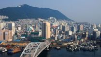 Pusan, view from Lotte department store