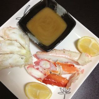 Crab legs with miso butter