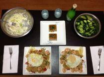 Malaysian fried rice, tofu, veggies