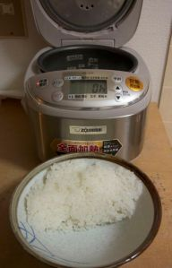 "My rice cooker tells you ""Oh"" when it's ready"
