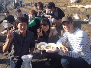 Folks in Sendai enjoying imoni
