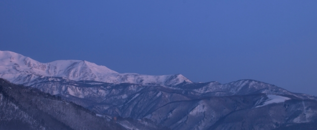 Hakuba at just before sunrise