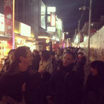 Friends and Harajuku crowd