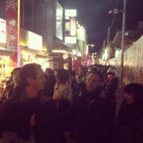 Friends and Harajuku crowd