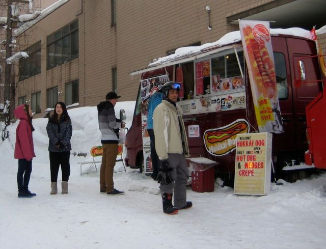 This hot dog stand was great and inexpensive compared to the Nook, but its not on the mountain.